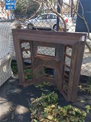 Sale 8676 - Lot 1188 - Cast Iron Fireplace Frame