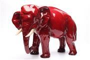 Sale 8710 - Lot 1 - Large Royal Doulton Flambe Elephant