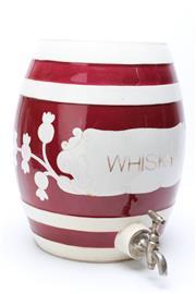 Sale 8732W - Lot 23 - Porcelain Whisky Barrell with Tap Dispenser ( H 33cm)