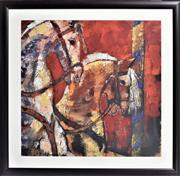 Sale 8778A - Lot 5048 - Alie Kruse Kolk - Carousel Heroes 87 x 87cm (frame)