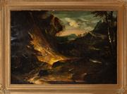 Sale 8804A - Lot 138 - Artist Unknown, Probably C18th - Lurking Danger 72cm x 114cm in ornate gilt gesso frame