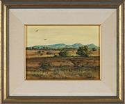 Sale 8853 - Lot 2004 - Michael Taylor - Afternoon in the Flinders 17 x 23.5cm