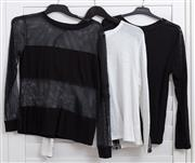 Sale 8902H - Lot 154 - Three long-sleeved womens tops, approx size small