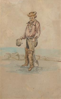 Sale 9199J - Lot 31 - S.T.G Gill - Digging for Gold