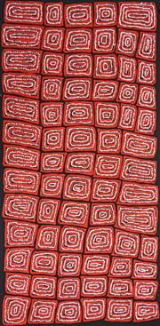 Sale 8325 - Lot 541 - Thomas Tjapaltjarri (c1964 - ) - Tingari 150 x 74cm