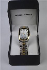 Sale 8381 - Lot 133 - Pierre Cardin Wrist Watch, having a date aperture on steel band, in box