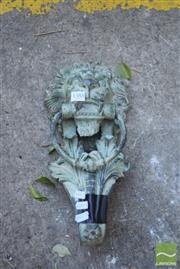 Sale 8390 - Lot 1388 - Cast Iron Lion Door Knocker