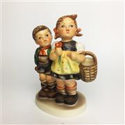 Sale 8456B - Lot 14 - Hummel Figure of a Boy & Girl with Flowers