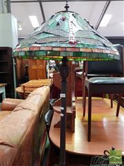 Sale 8480 - Lot 1080 - Leadlight Shade Standard Lamp