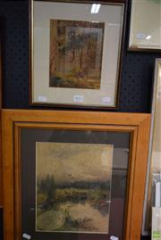 Sale 8582 - Lot 2045 - (2 works) Early C20th Landscape Watercolours by Unknown Artist (A/F) (framed/various sizes)