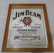 Sale 8600A - Lot 41 - Jim Beam bar mirror, H 72 x W 57cm.