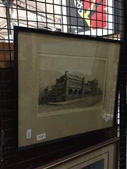 Sale 8771 - Lot 2044 - Austin Platt (1912 - 2003) - Methodist Ladies College, Burwood NSW drypoint etching, ed 101/200, 31 x 35.5cm (frame) signed lower...