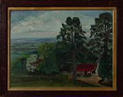 Sale 8855H - Lot 301 - Ida Hammerman, View from Kurrajong Heights, oil on board, 35 x 47cm