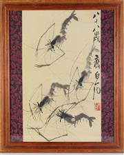 Sale 8902C - Lot 614 - A Framed Picture of Shrimps (58cm x 48cm)