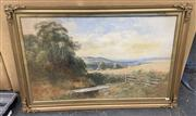 Sale 9004 - Lot 2074 - Alfred Wadham Sinclair (1866-1938) Country Valley Scene watercolour (AF), 66 x 99cm (frame) signed