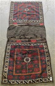 Sale 9071 - Lot 1031 - Red Cream & Blue Tone Persian Saddle Bag (190 x 83cm)
