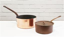Sale 9126 - Lot 1088 - Pair of large French copper saucepans