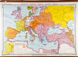 Sale 9144 - Lot 39 - Vintage School Map of Europe in 1648 (83cm x 114cm)