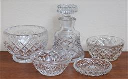 Sale 9155H - Lot 28 - A quantity of moulded and cut glasswares Tallest 13cm