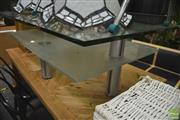 Sale 8289 - Lot 1070 - Tiered Glass Coffee Table
