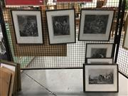 Sale 8752 - Lot 2092 - 7 Framed Engravings