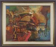 Sale 8764 - Lot 511 - Reinis Zusters (1919 - 1999) - Harbour Bridge 59.5 x 75cm