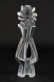 Sale 8887 - Lot 3 - Czech Made Glass Rose Form Sculptural Piece By Jan Cerny H: 26cm