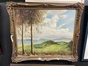 Sale 9041 - Lot 2074 - Vincent Hesse Landscape oil on canvas laid on board 61 x 71cm (frame) signed lower right -