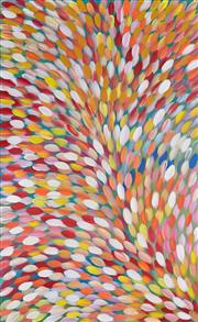 Sale 8325 - Lot 551 - Gloria Petyarre (c1945 - ) - Bush Medicine Leaves 202 x 125cm