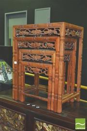 Sale 8371 - Lot 1002 - Oriental Nest of 4 tables