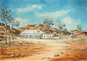 Sale 8519 - Lot 599 - Eric Minchin (1928 - 1994) - Farm Station 44.5 x 60cm