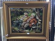 Sale 8726 - Lot 2012 - Zotlton Fenyes - Old Men, Oil, SLL, 30x37cm