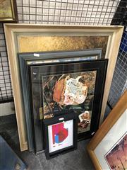 Sale 8797 - Lot 2096 - 3 Various Prints & a Framed Needlework of a Polar Bear