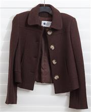Sale 8902H - Lot 134 - An Italian made short pea coat in brown, S