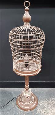 Sale 8971 - Lot 1032 - Vintage Bird Cage Form Table Lamp (H:93 x D:28cm)