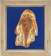 Sale 9091 - Lot 2004 - Maximilian Feuerring (1896 - 1985) Archaic Head oil on board, frame: 52 x 48cm, signed -