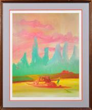 Sale 8309A - Lot 63 - Sidney Nolan (1917 - 1992) - River Kwai Series 72 x 57cm