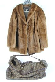 Sale 8410 - Lot 21 - Berkeley Mink Fur Jacket & Fendi Style Bag