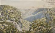 Sale 8624 - Lot 580 - Eugene von Guerard (1811 - 1901) - Weatherboard Falls, N.S.W 29.5 x 49cm