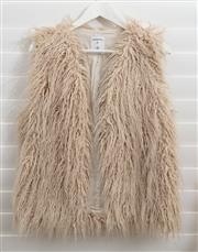 Sale 8902H - Lot 161 - A faux wool vest in off white by Sandwich, size S-M