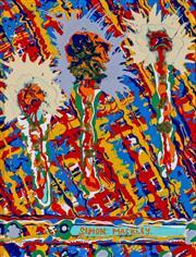 Sale 8972A - Lot 5052 - Simon Mackley (1967 - ) - Dancing Dandelions 24 x 19 cm