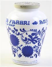 Sale 9003G - Lot 624 - Amarena Fabbri G. Fabbri White Milk Glass Jar, H:16.5cm