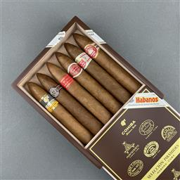 Sale 9120W - Lot 1408 - Combinaciones Seleccion Piramides Cuban Cigars - gift box of 6 cigars including Romeo y Julieta, Cohiba, Hoyo de Monterrey, Montecri...