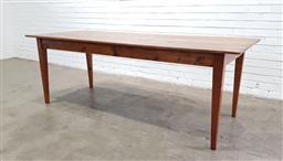 Sale 9146 - Lot 1030 - Timber farmhouse dining table (h77 x w216 x d86cm)