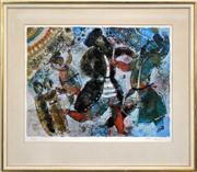 Sale 8286 - Lot 593 - Theo Tobiasse (1927 - 2012) - La lumiere jaillit quand les hommes dansent 45 x 60cm