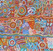 Sale 8321 - Lot 508 - Betty Mbitjana (1955 - ) - Bush Melon - Awelye 90 x 95cm
