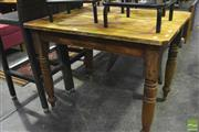 Sale 8341 - Lot 1033 - Timber Kitchen Table