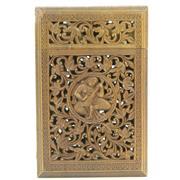 Sale 8356 - Lot 52 - Indian Cedarwood Calling Card Case
