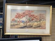 Sale 8888 - Lot 2064 - Joan Evans - Landscape 31 x 58cm