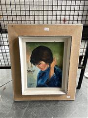 Sale 8895 - Lot 2038 - H. Adler - Portrait, oil on canvas board, 31 x 23.5 cm, signed lower right